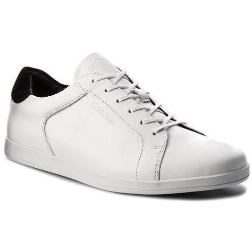 Sneakersy CALVIN KLEIN BLACK LABEL - Maine2 F0945 White, w 5 rozmiarach