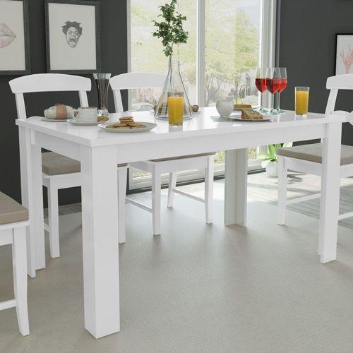 Vidaxl stół jadalniany 140x80x75 cm biały (8718475977292)