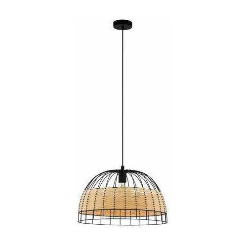 Eglo Anwick 43312 lampa wisząca zwis 1x40W E27 czarna/drewno, kolor Czarny