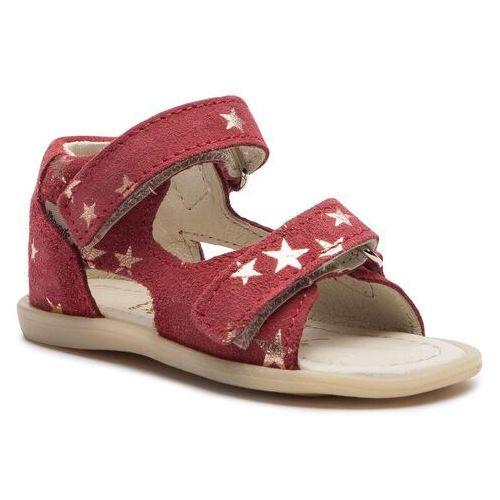 Sandały MRUGAŁA - Flo 1105/9-23 Rubby Stars, kolor czerwony