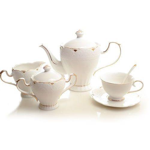 Fusaichi pegasus Serwis kawowy herbaciany z białej porcelany