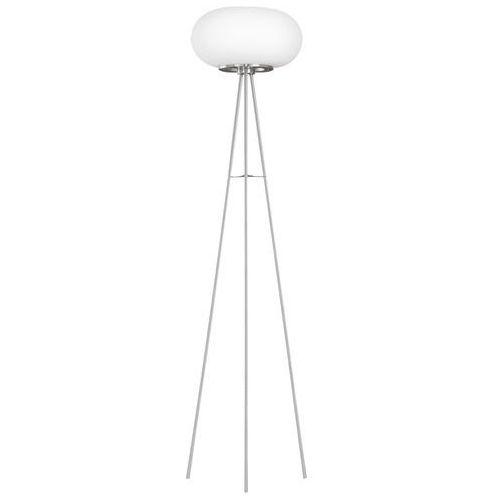 Eglo Lampa podłogowa optica 86817 2x60w e27 biała
