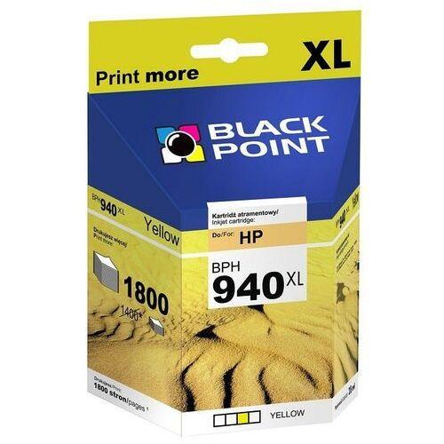 Black Point tusz BPH940XLY / C4909AE nr 940XL (yellow) Darmowy odbiór w 19 miastach!, kolor żółty