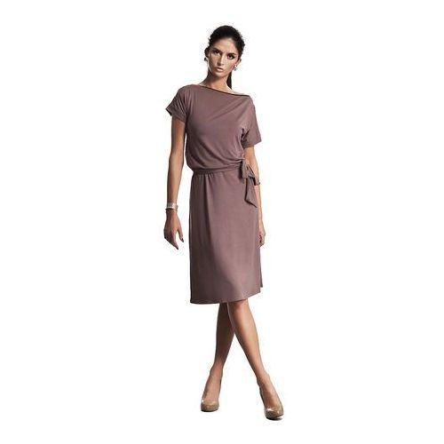 Wyjątkowa Sukienka z Suwakiem w Kolorze Mocca, w 5 rozmiarach