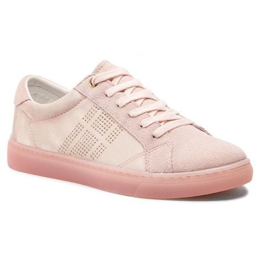 fbe6279cbb1a2 Sneakersy TOMMY HILFIGER - Sparkle Satin Essential Sneaker FW0FW03694  Silver Peony 658