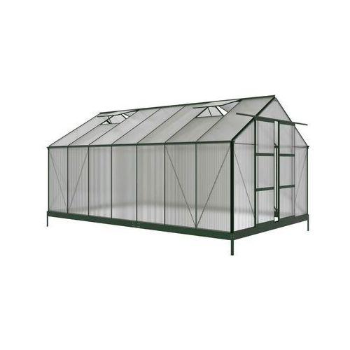 Vente-unique.pl Szklarnia ogrodowa oxalis z poliwęglanu o powierzchni 15 m², z podstawą