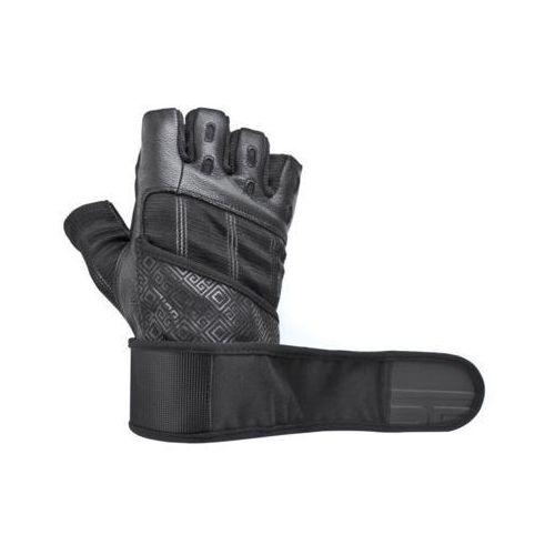 Rękawice fitness SPOKEY Rayo III Czarny (rozmiar L), kolor czarny