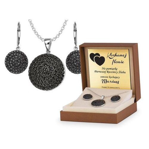 Srebrny Komplet Zestaw Biżuterii 925 z GRAWEREM YS24