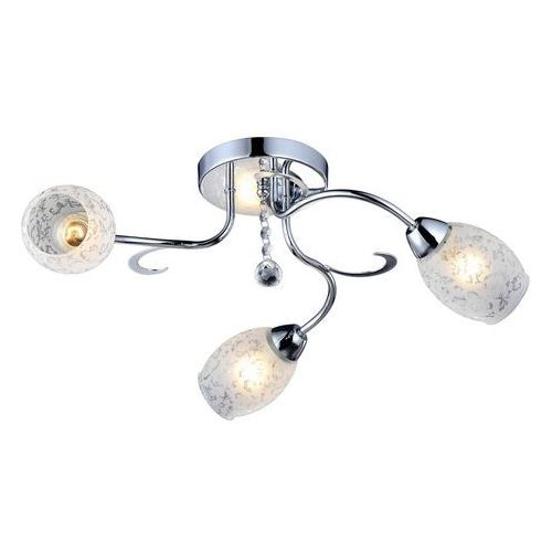 Reality Plafon lampa sufitowa crissy 3x60w e14 chrom / biały 615803-06