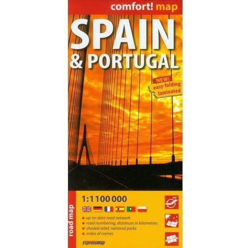 Hiszpania i Portugalia laminowana mapa samochodowa 1:1 100 000, Expressmap - OKAZJE