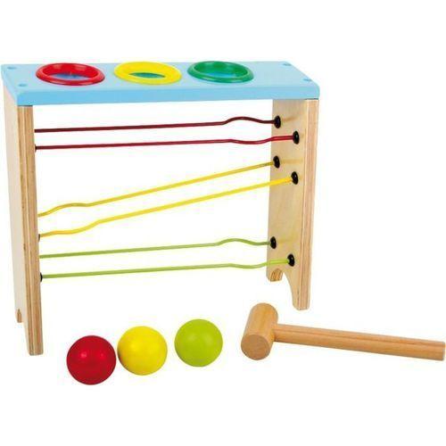 Small foot design Kolorowa wbijanka-kulodrom - zabawka zręcznościowa dla dzieci