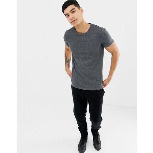 Tom Tailor paisley burnout t-shirt in grey - Grey, w 6 rozmiarach