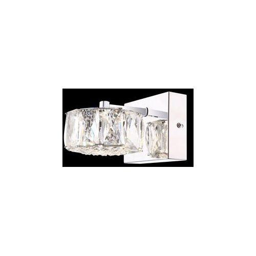Globo Kinkiet lampa oprawa ścienna amur 1x8w led chrom/przezroczysty 49350-1w (9007371305469)