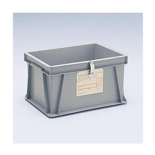 Schoeller allibert Uchwyt na etykiety, do pojemników euro do ustawiania w stos, 80x20 mm, do mocowa