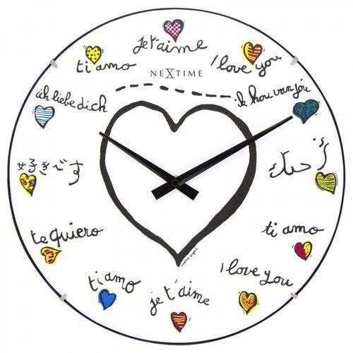 Nextime Zegar ścienny 3160 loving you dome śr. 35cm (8717713016724)