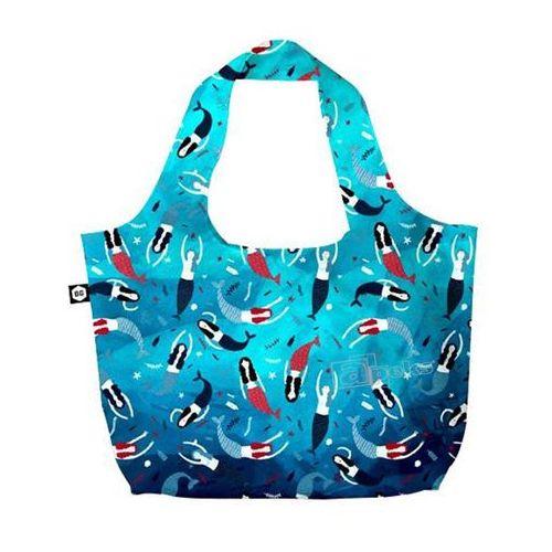 BG Berlin Eco Bags Eco torba na zakupy 3w1 - Mermaids / Blue Lagoon