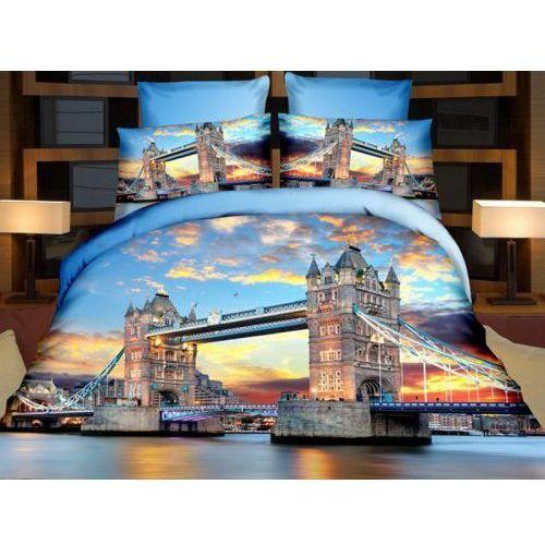 Cotton world Pościel 3d - most tower bridge londyn 140x200 - 3 cz. - fpw 236-01