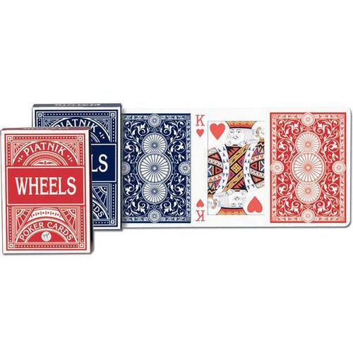 """""""wheels"""" pokerowe, talia niebieska - karty do gry - od 24,99zł darmowa dostawa kiosk ruchu marki Piatnik"""