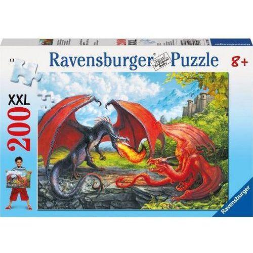 Ravensburger Puzzle 200 elementów xxl - pojedynek smoków (4005556127085)