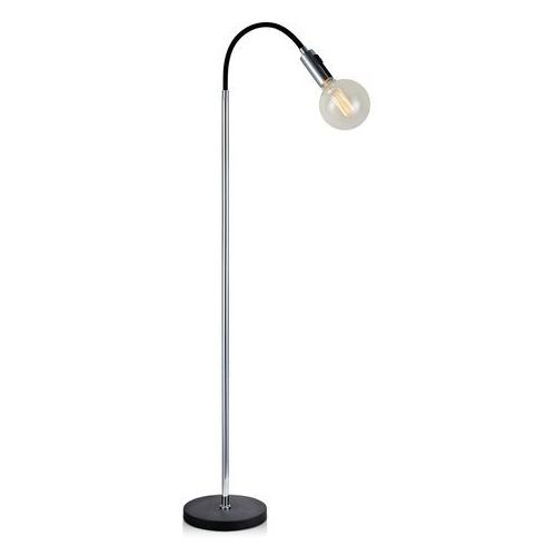 Lampa podłogowa Raw E27 1 x 60 W chrom czarna, 106598