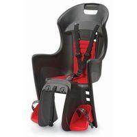 Fotelik rowerowy boodie rms czarno-czerwony mocowanie na bagażnik marki Polisport