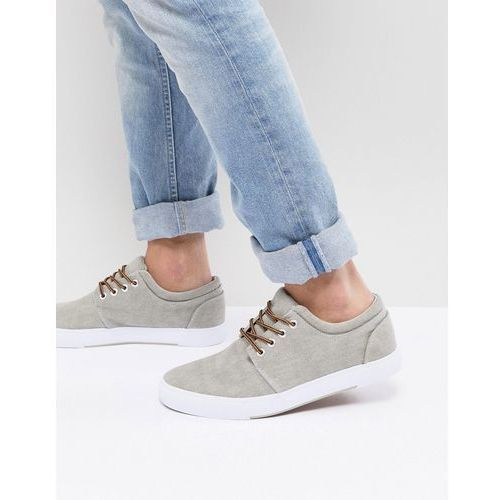 Pier One Plimsolls In Grey - Grey, kolor szary