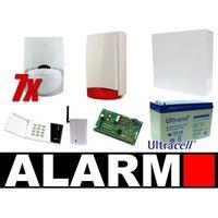 Zestaw alarmowy Satel CA-10 LED, GSM, 7 Czujek, Sygnalizator zewnętrzny