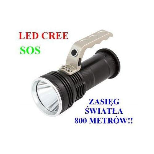 Profesjonalna akumulatorowa policyjna latarka szperacz (zasięg 800m!!) led cree + stroboskop + sos.. marki Home appliances