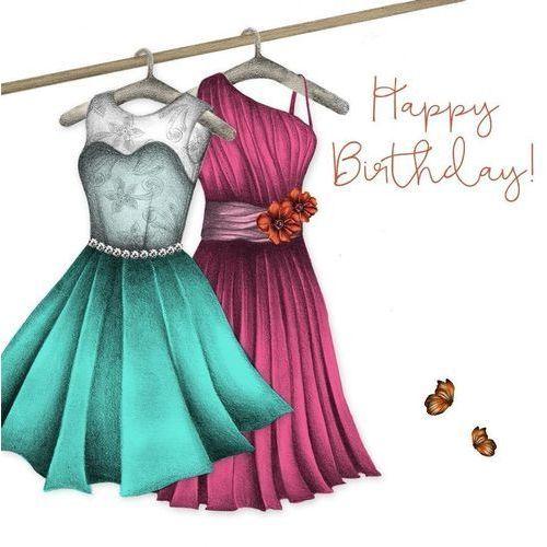 Karnet Swarovski kwadrat CL0315 Urodziny sukienki