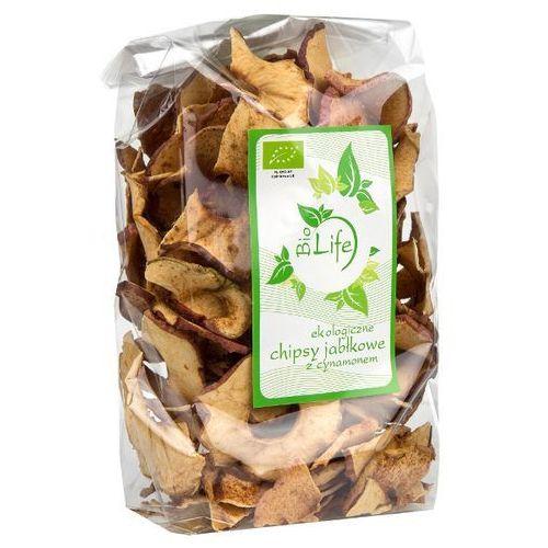 BIOLIFE 100g Chipsy jabłkowe z cynamonem Bio | DARMOWA DOSTAWA OD 200 ZŁ (przekąska)