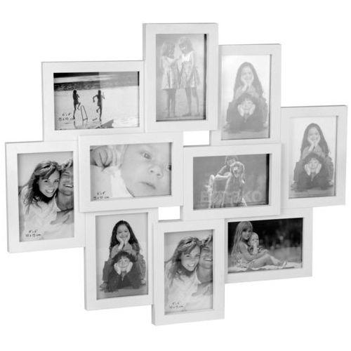 Wideshop Duża ramka 3d biała na zdjęcia 10 zdjęć 10x15cm (8718158610416)