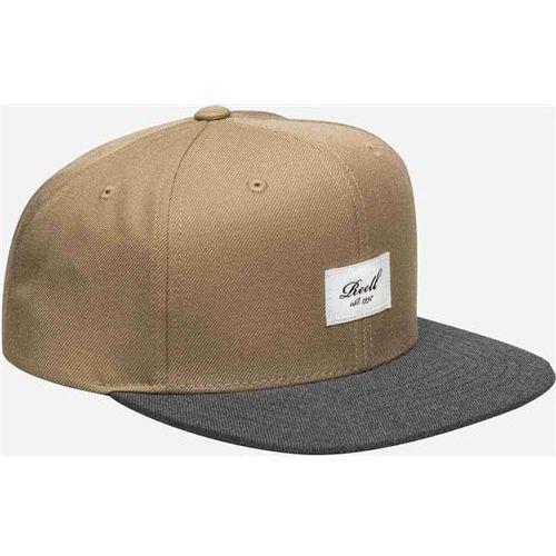 czapka z daszkiem REELL - Pitchout 6-Panel Cap Khaki / Charcoal (KHAKI-CHARCOAL), kolor zielony