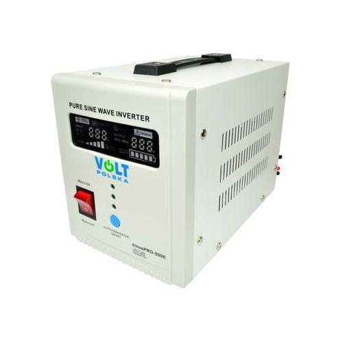 sinuspro-500e przetwornica samochodowa 300w/500w 12v/230v z pełną sinusoidą oraz funkcją ups i prostownika marki Volt