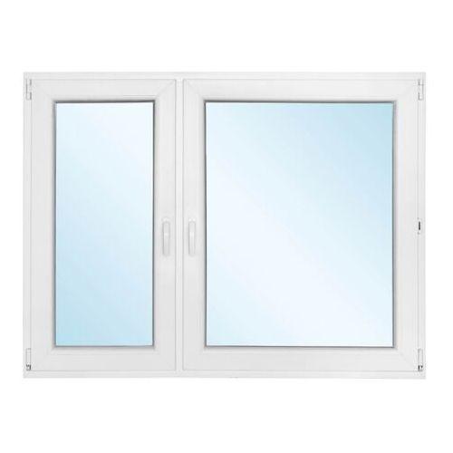 Okno PCV rozwierno-uchylne + rozwierne z mikrowentylacją 1465 x 1135 mm lewe