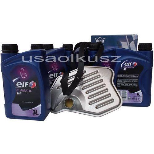 Filtr oraz olej g3 automatycznej skrzyni biegów lincoln town car marki Elf
