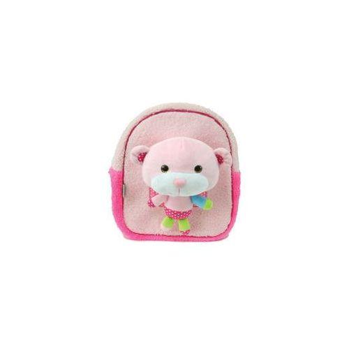 Eurocom Plecak dziecięcy z pluszakiem róż - mst toys (3850385004509)