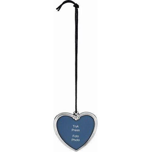 Rosendahl Dekoracja choinkowa karen blixen serce z miejscem na zdjęcie srebrne (5709513313137)