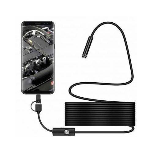 Endoskop kamera inspekcyjna 5.5mm Android OTG USB typ C i micro usb 3w1 1m, endo_3w1