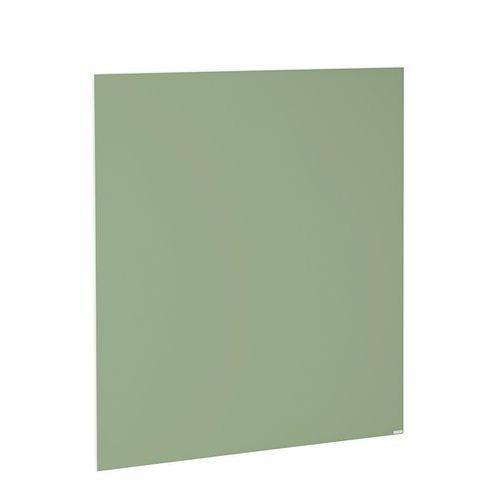 Szklana tablica suchościeralna, 1000x1000 mm, pastelowy zielony, 3803325