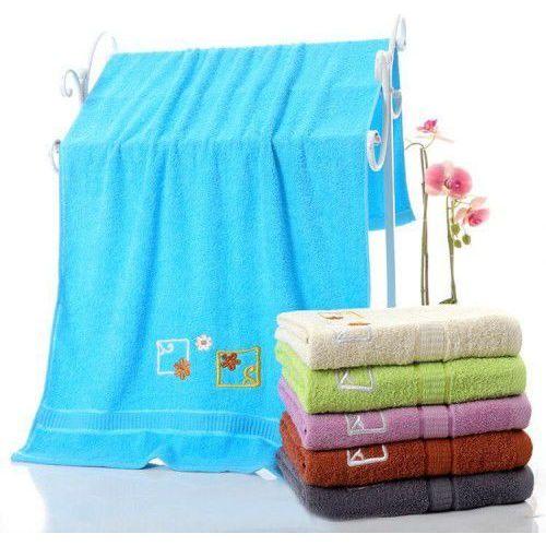 Ręcznik bawełniany - 70x140 - niebieski marki Cotton world