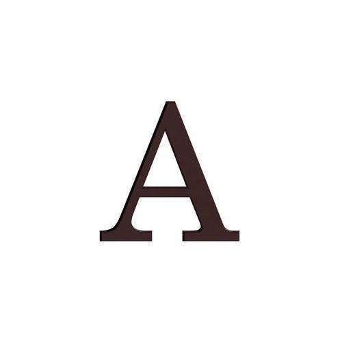 Litera A wys. 9 cm PVC brązowa (5906711250176)