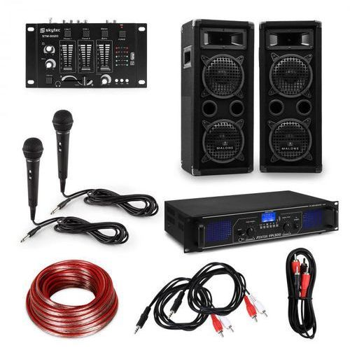Electronic-star estar, zestaw dj pa hi-fi, wzmacniacz, kolumny, pulpit mikserski, mikrofony, kable (4060656235061)