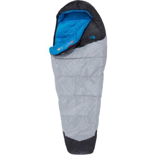 The north face blue kazoo sleeping bag regular, high rise grey/hyper blue left 2019 śpiwory