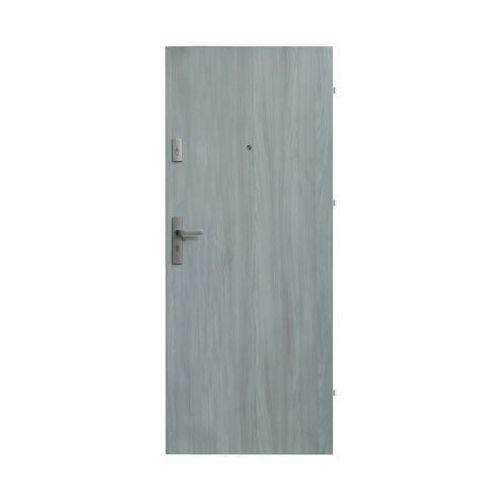 Drzwi wejściowe PRESTON Dąb frozen 80 Prawe DOMIDOR