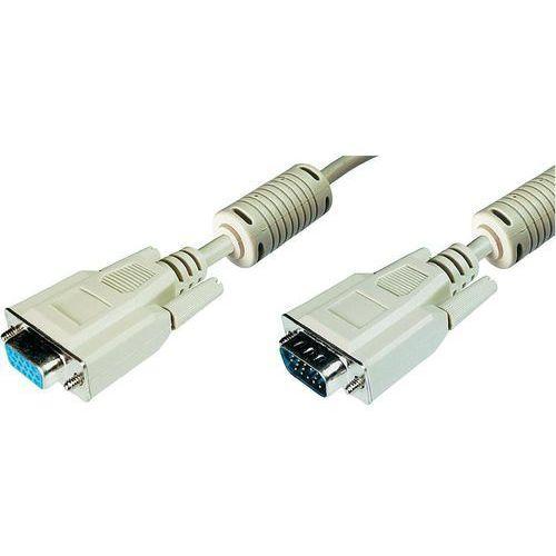 Przedłużacz VGA Digitus AK-310203-100-E, [1x złącze męskie VGA - 1x złącze żeńskie VGA], 10 m, szary, AK-310203-100-E