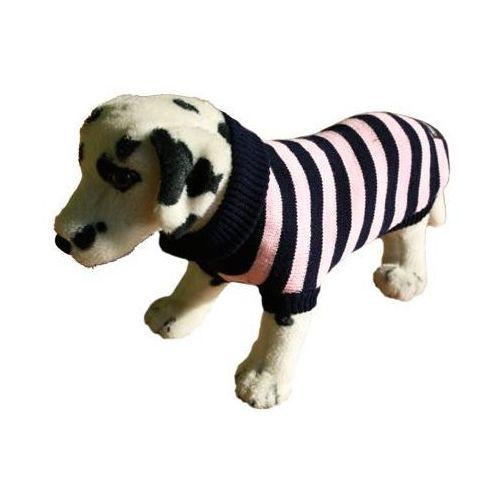 sweter dla psa paski różowo-czarne rozmiary 1-6 marki Ami play