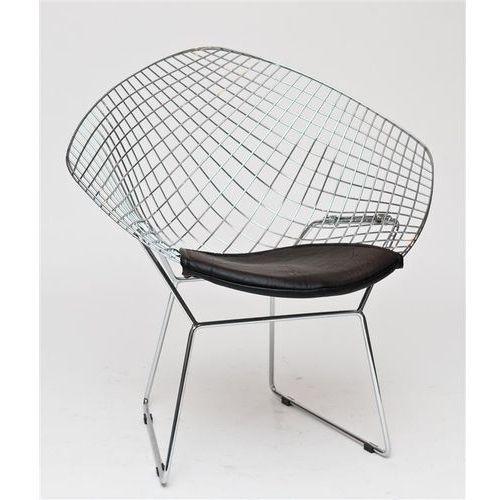D2.design Krzesło harryarm czarna poduszka modern house bogata chata