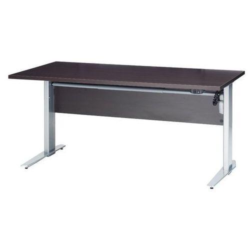 Prima biurko z el. regulowanymi nogami 150 cm - dąb antracyt \ szary marki Tvilum
