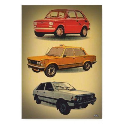 """Plakat metalowy """"prl - samochody"""" marki Steel poster"""
