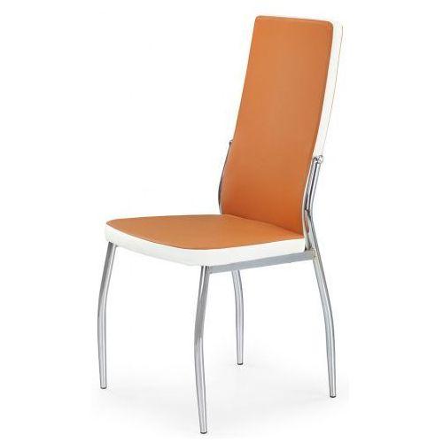 Krzesło tapicerowane Abrim - pomarańczowe